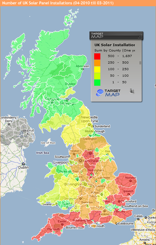 Most Popular Counties for Solar Panels in the UK – Map Uk Solar