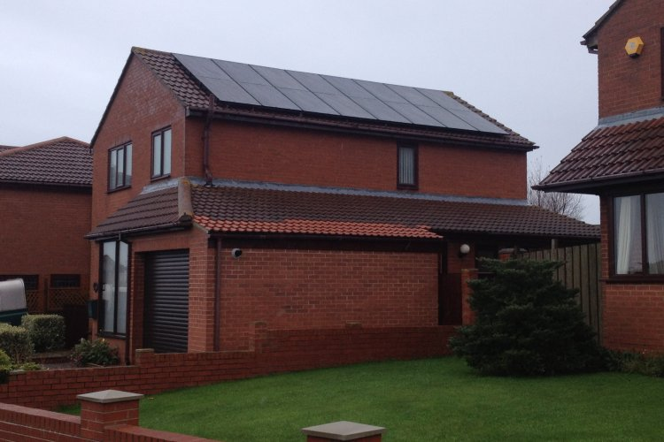 Example solar panel installation by One Planet Solar in Bishop Auckland, County Durham