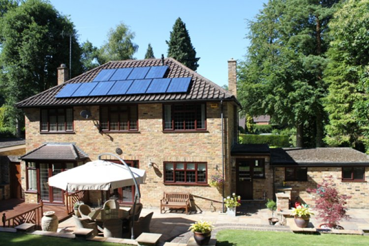 Example solar panel installation by Solar Panelling Ltd in Chertsey, Surrey