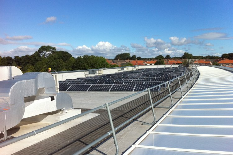 Example solar panel installation by Sun Spirit Ltd in Sunderland