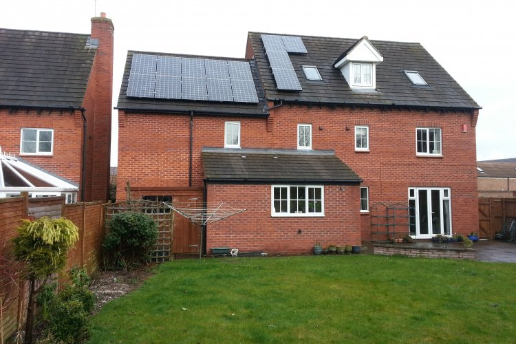 Example solar panel installation by Sol Electrical Ltd in Uffculme, Devon