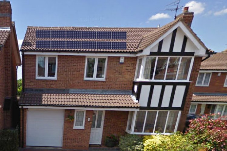 Example solar panel installation by Green Solar UK in Birmingham