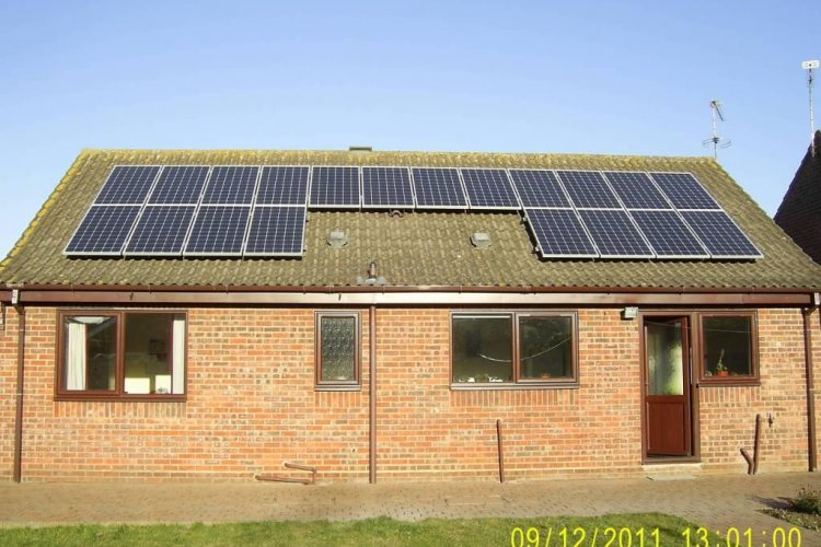 Example solar panel installation by Medoria Solar in Thorpe, Wakefield