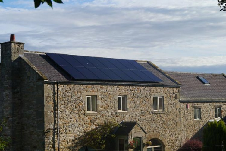 Example solar panel installation by Green Team Partnership in Stocksfield, Northumberland