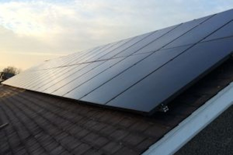 Example solar panel installation by Renergy Solutions in Leicester