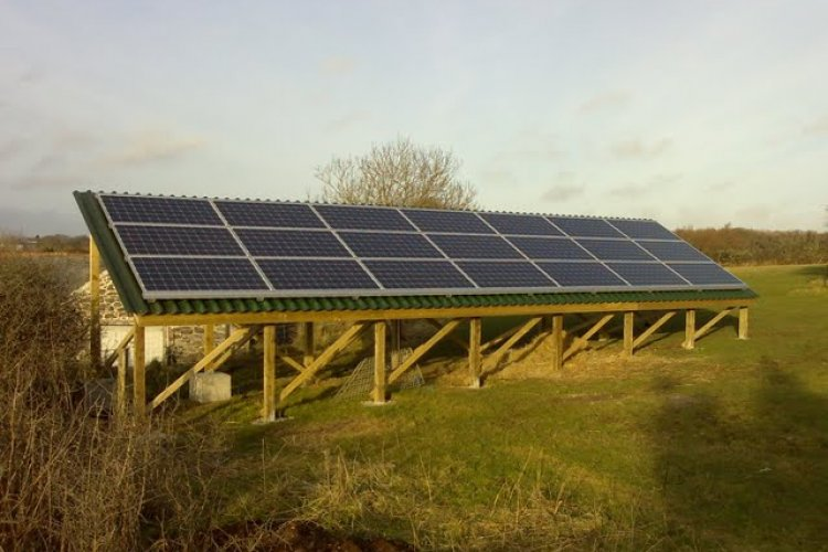 Example solar panel installation by Cornwall Super Homes ltd in Newquay, Cornwall