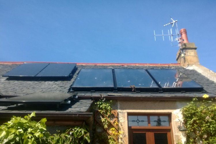 Example solar panel installation by Green Moray Renewables Ltd in Moray, Scotland
