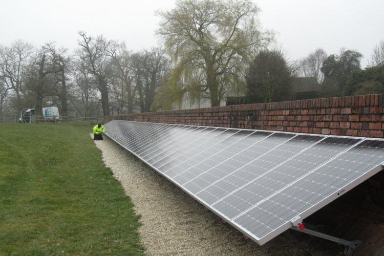 Example solar panel installation by Engensa Ltd in Acton, London