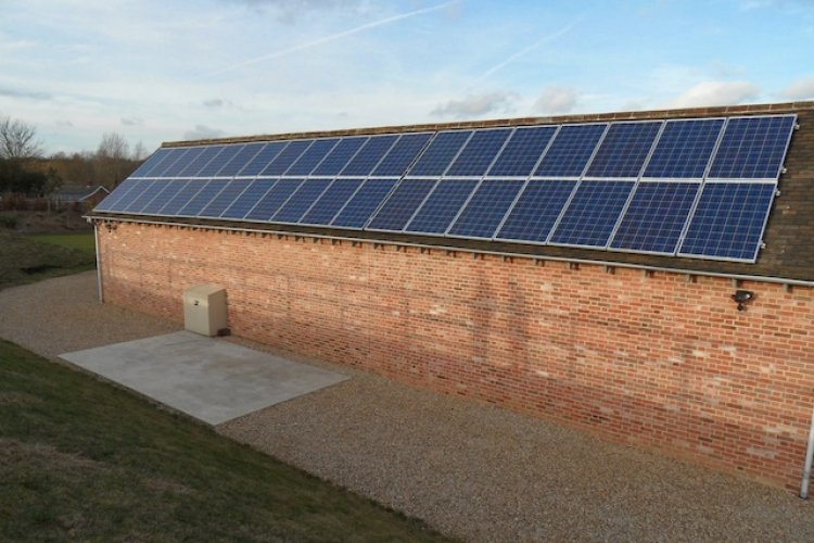 Example solar panel installation by Igloo Environmental Ltd in Dunmow